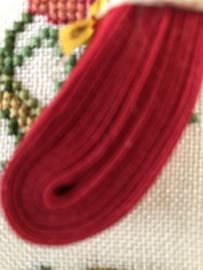 Band  | Biaisband | Rood (tomaat)  | 1 cm | 100% katoen | merkloos - kleurecht : patents pending