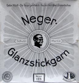 Verpakking Neger-Glanzstickgarn