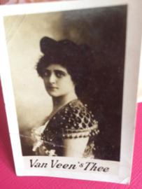 Verzamelplaatje | reclamekaartje | Van Veen's thee  Photocard  | ca. 1900
