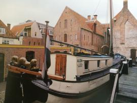 Nederland | Groningen | Ansichtkaart van de Tjalk Alida - Noordelijk scheepsvaartmuseum Groningen