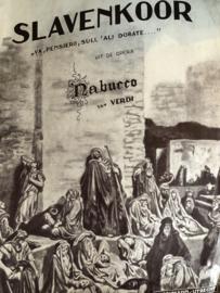 1930 | Muziek | Bladmuziek | Slavenkoor Nabucco van verdi |  Buschmann Utrecht