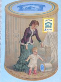 "Briefkaart | Maison Sajou ""garenklosje en baby"" | #haberdashery #fournituren #garen"