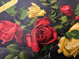 Vintage briefkaart met sticker Lieve Maria - 1957