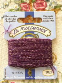 Wol | Stopwol | Paars & goud | Maison Sajou - Tonkin borduurgaren | stopgaren  - NIEUW