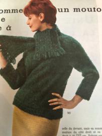 1961 | Modes et travaux  Février 1961 - 43e Année N° 722 - met Nederlands werkblad en blad met borduurpatronen