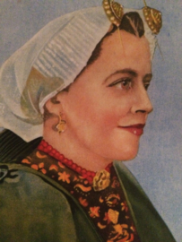Nederland | Scheveningen | Streekdracht hoofdtooi Scheveningse vrouw | Zeldzame ansichtkaart | ca. 1900