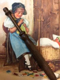 Mahoniehout kantklosje zonder kraaltjes | 1870-1900