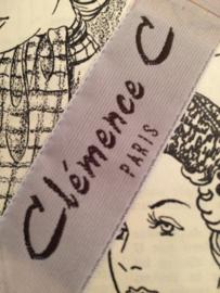 "Vintage Merkband | Beige | ""Clémence C Paris"" Fashion | per vijf blokjes | jaren '50"