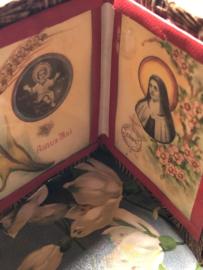 Frankrijk | Religie | Frankrijk | Katholiek | Leren mapje plaatjes van Jezus en Thérèse of Lisieux