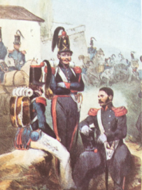 Verzamelkaart leger uniformen nr. 22 | België | veldartillerie | 1833
