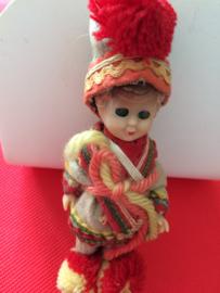 Lapland | Miniatuurpopjes | Klein knipperoogjes poppetje Lapland | ca. jaren '30-'40
