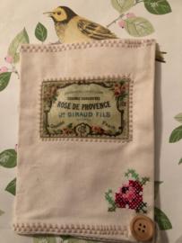 Notitieblok hoes 'Rose du Provence' (18 x 13 cm)