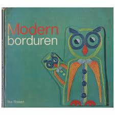 1970 | Boeken |  Borduren | Modern Borduren: met 63 patronen van de schrijfster Ike Rosen en 100 foto's | Super vintage | Retro