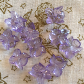 Licht paarse mini bloemen kraaltjes | 10 mm 10 stuks per zakje