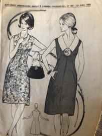 1964 | Naaipatronen | Robe de Printemps no. 7300 - Taille 44 Femmes D'aujourd'hui no. 990 - 23 avril 1964