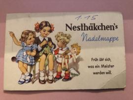 VERKOCHT | Nesthäcken's | vintage naaldenboekje | Needlebook | Nadelmappe | 1950