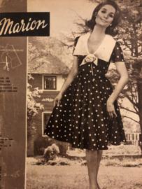 1965 | Marion naaipatronen maandblad | nr. 203 mei 1965 - met radarblad - vakantiegarderobe, prachtige jurken - plissé en noppen