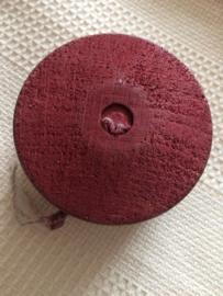 1950 | YoYo - Mooie handgemaakte, eenvoudige vintage rode jojo van hout | jaren '50