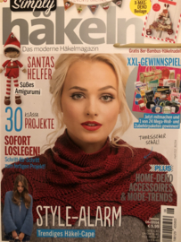 Tijdschriften | Haken | Simply Hakeln Das moderne Häkelmagazin 2016 nr. 06 Januar. STYLE ALARM