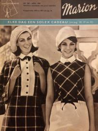 1965 | Marion naaipatronen maandblad | nr. 202, april 1965 - met radarblad - herenjassen, nachtkleding, lente jurkjes