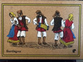 Notitieblok  of schetboekje van kurk met de tekst Sardegna