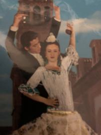 Spanje  | WIT-GOUD | Kaarten  | Flamenco dansers MET ENVELOPPE