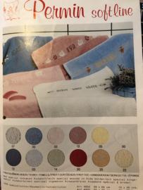 Permin Softline | Telpatroon voor handdoeken - met kleurnummers