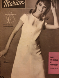 1966 | Marion naaipatronen maandblad | nr. 221 november 1966 - trouwjurk, jassen, pyjama's, ochtendjas man