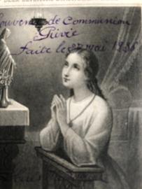 Kaarten | Bidprentjes | Marie | Eucharistieviering | Prachtig kaartje met kanten randje - 1936