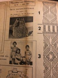 VERKOCHT | Ariadne: maandblad voor handwerken | 1954 nr. 091 juli - ALLEEN WERKBLAD -