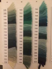 z. Bekijk hier de kleurenkaart van DMC Colbert Laine Pour Tapisserie | Colbert Laine floss chart | 70s