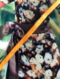 Lint | Geel/oranje vintage lint - katoen (restje 1.80 x 0.05)