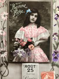 1910 | Frankrijk | Verjaardagskaart voor Louise