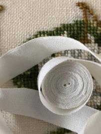 Band | Wit | Biaisband | 1 cm | met een restje ander wit biaisband (gratis )