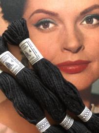 Katoen | 2380 zwart | Retors A Broder DMC no 4 - 10 métres Dollfus Mieg & Co | ca. 1920