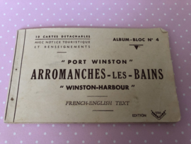 "WW II | SEPIA | Arromanches - les Bains ""Winston-Harbour"" 10 cartes detachables - Album-Bloc no. 4 French English Text"