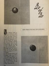 Knopen aanzetten - tip uit Dameswereld, nr. 22 -  1953
