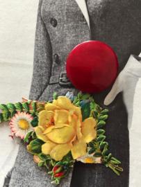 Knopen | Rood Marmerrode knopen- 25 mm | jaren '60