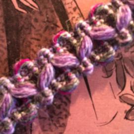 Band | Lichtpaars gemêleerd wol |  1 cm