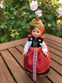 Oostenrijk | Montfalon | Vintage klederdrachtpoppetje blonde 'Lisel'