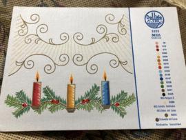 MEZ DellWea | KERST | Sticktwist 5323 - kleurenkaart Kersttafereel Kersttakjes en kaarsje