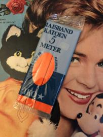 Band | Oranje | Biaisband | (2 cm) | 100% katoen | IKO  - naadloos en kleurecht - wasbaar tot 95 ℃