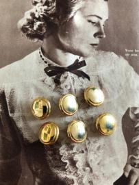 Goud | Jasknopen (6 stuks) - 18 mm - metaal | jaren '60