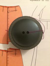 Knopen | Grijs | 34 mm met randje jasknoop