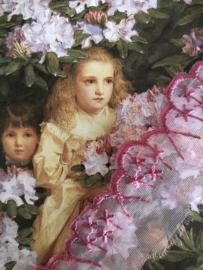 Kant | Roze | Vintage bramen roze organza kant - bloemmotief (2 cm)