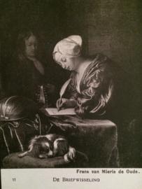 De briefwisseling Frans van Mierlo- vintage zwart-wit briefkaart Kunst