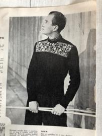 1954 | Breien | Vintage breipatroon herentrui -  wintertrui met patroon