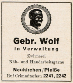 Advertenties Negergarn | 1955
