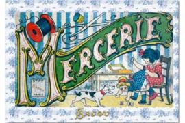 "Briefkaart | Maison Sajou Mercerie ""fournituren"" #haberdashery"