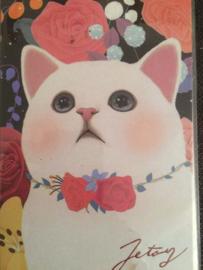 """Choo Choo poezen briefkaart """"Rozen strikje"""" - NIEUW"""